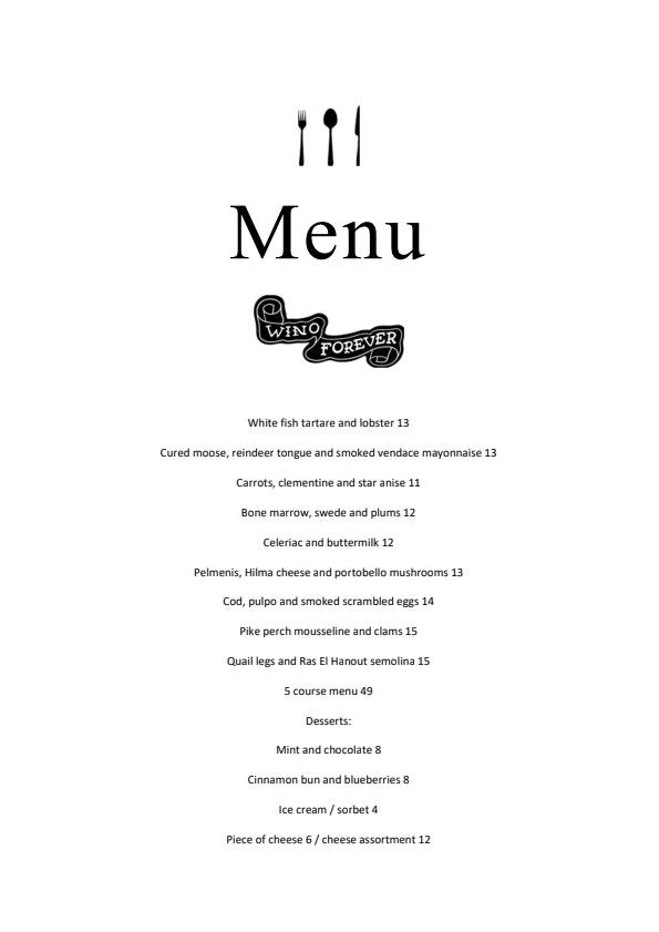 Wino menu 1/1