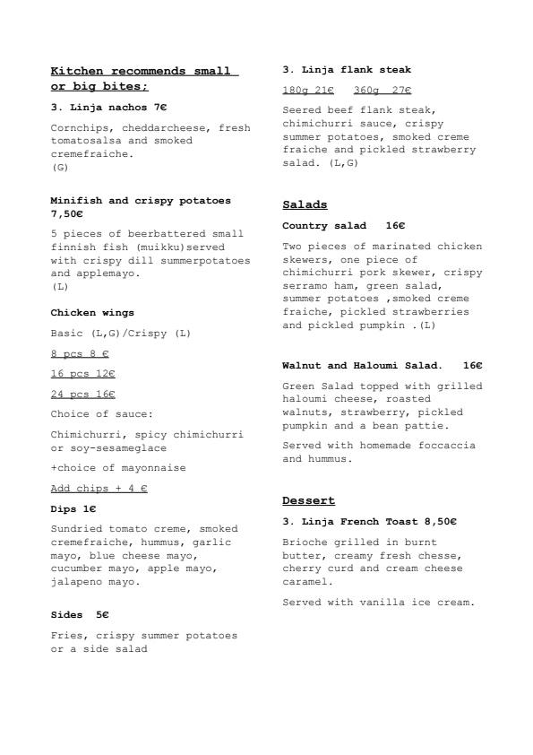 3.Linja menu 1/2