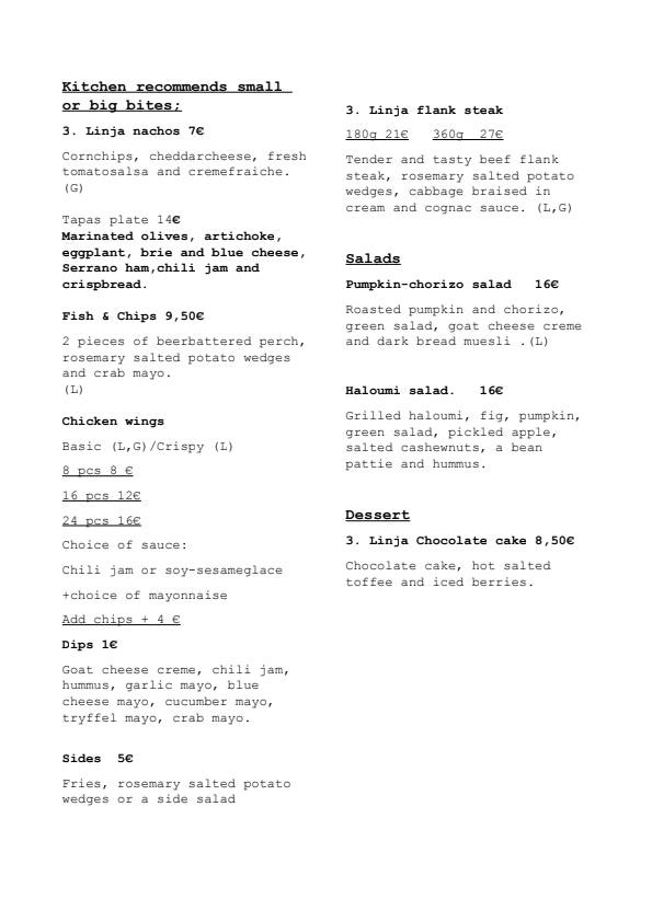 3.Linja menu 2/2