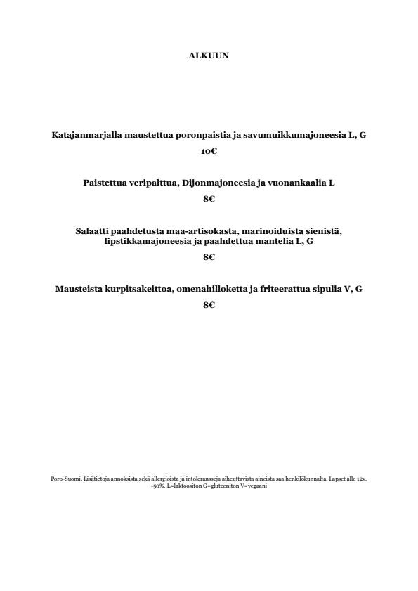 Perho menu 1/4