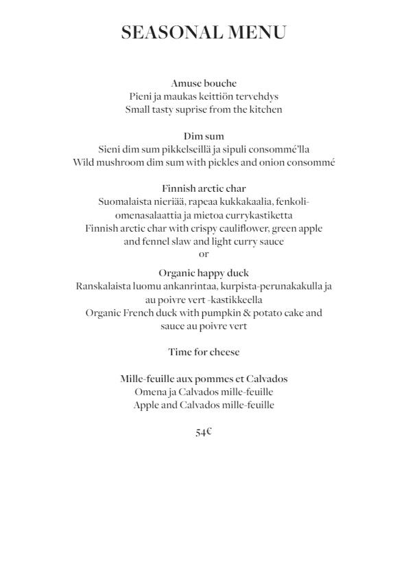Fabrik Helsinki menu 4/5