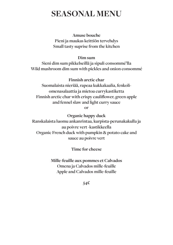 Fabrik Helsinki menu 3/5