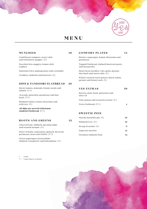 Yes Yes Yes menu 1/4