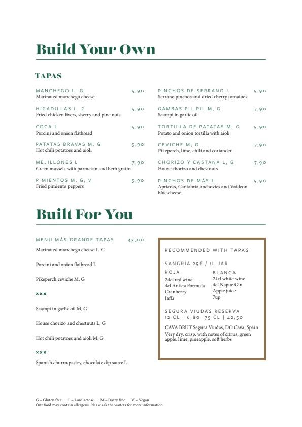 Más menu 1/4