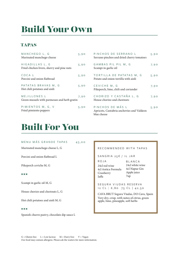 Más menu 2/4