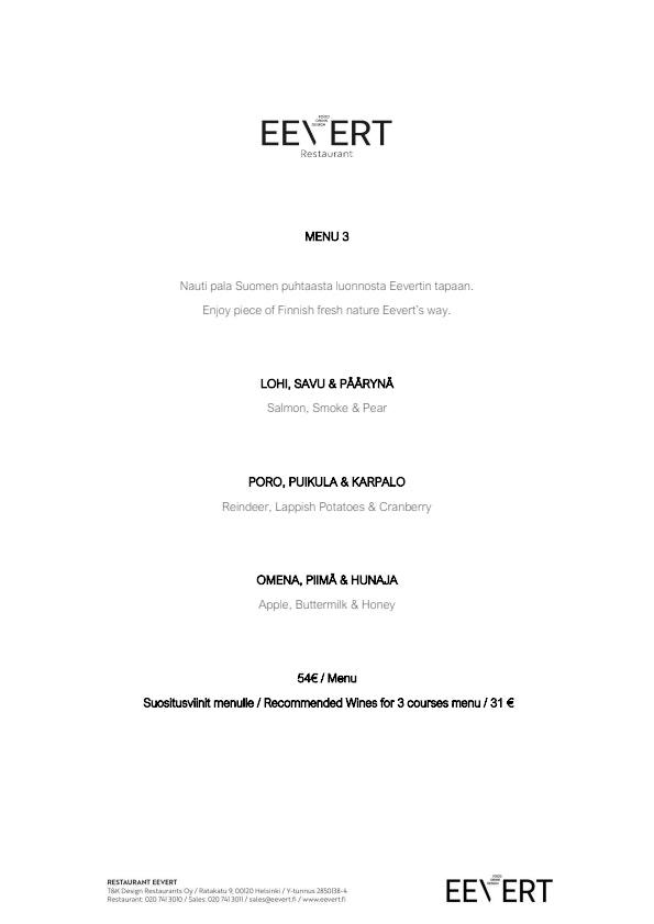 Restaurant Eevert menu 2/7