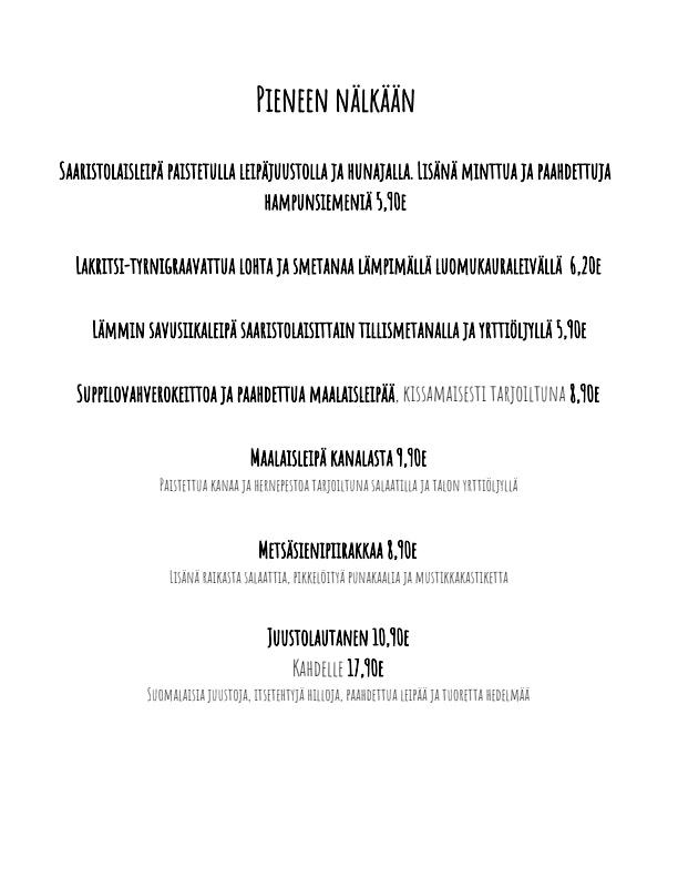 Kissakahvila Helkatti menu 3/5