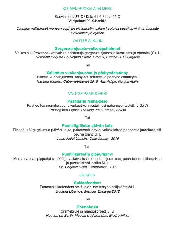 Rugosa menu 2/4