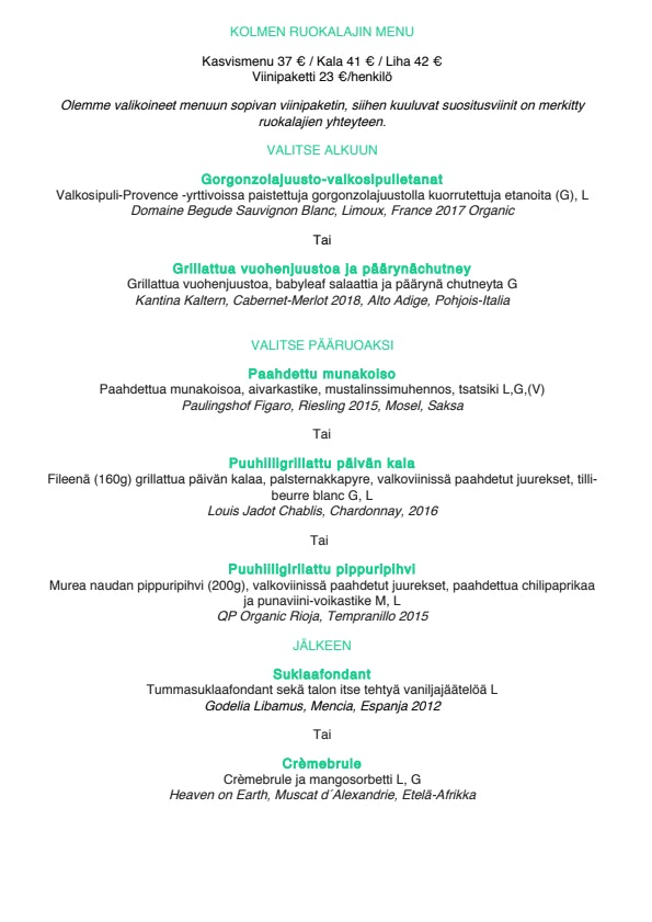 Rugosa menu 3/4