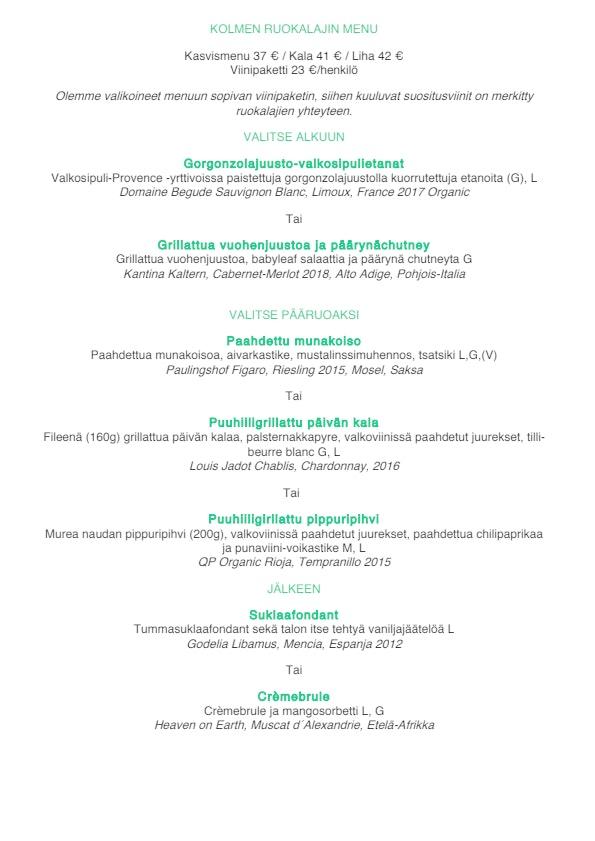 Rugosa menu 1/4