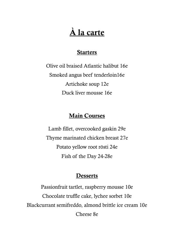 LiV menu 1/2
