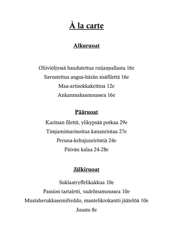 LiV menu 1/1