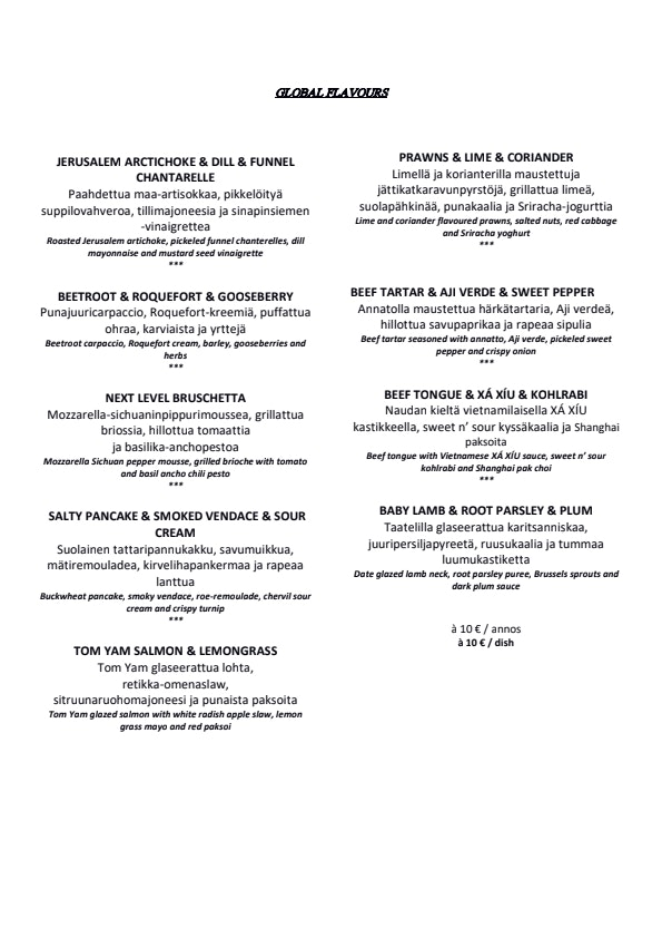 Periscope Restaurant menu 1/4