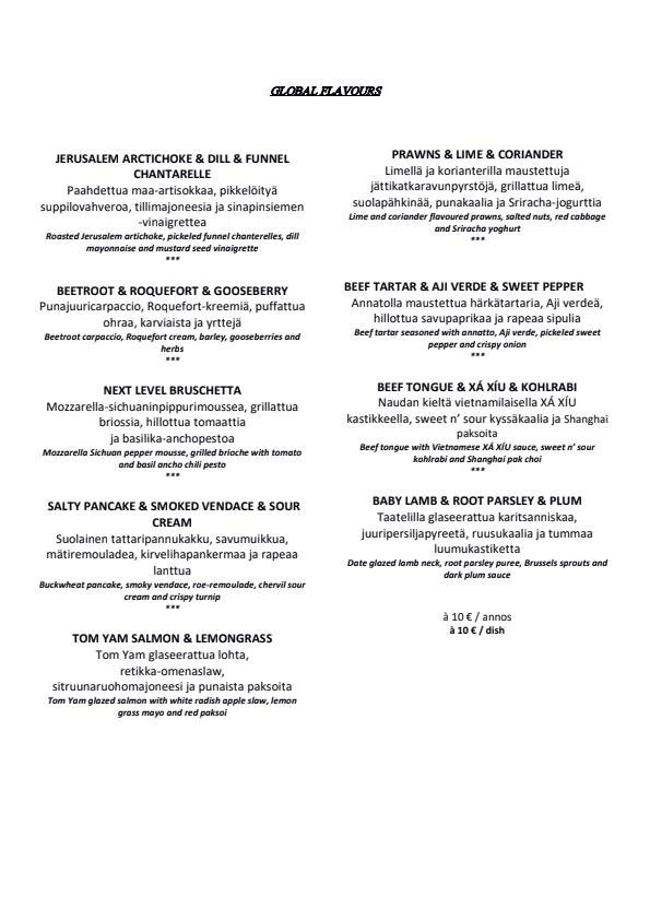 Periscope Restaurant menu 1/4