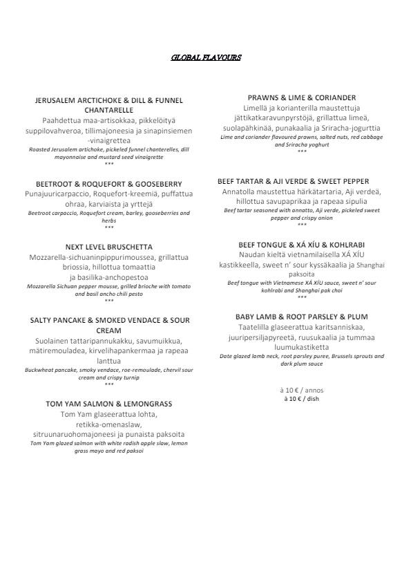 Periscope Restaurant menu 2/4