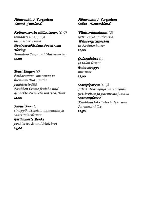 Hausman menu 2/4