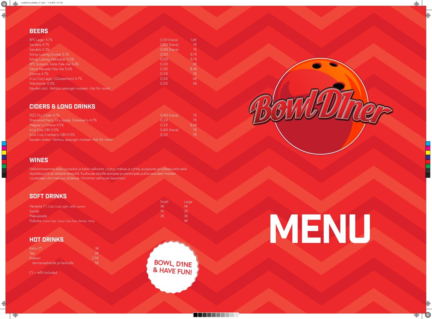 Bowl d1ner menu 1/2