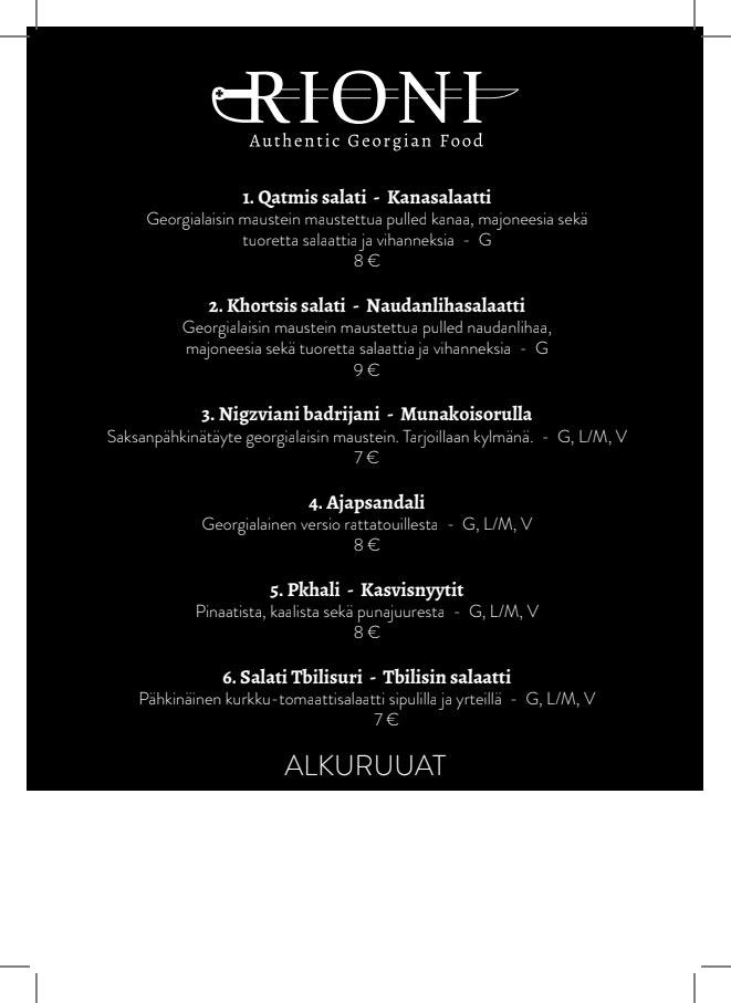 Rioni menu 1/5
