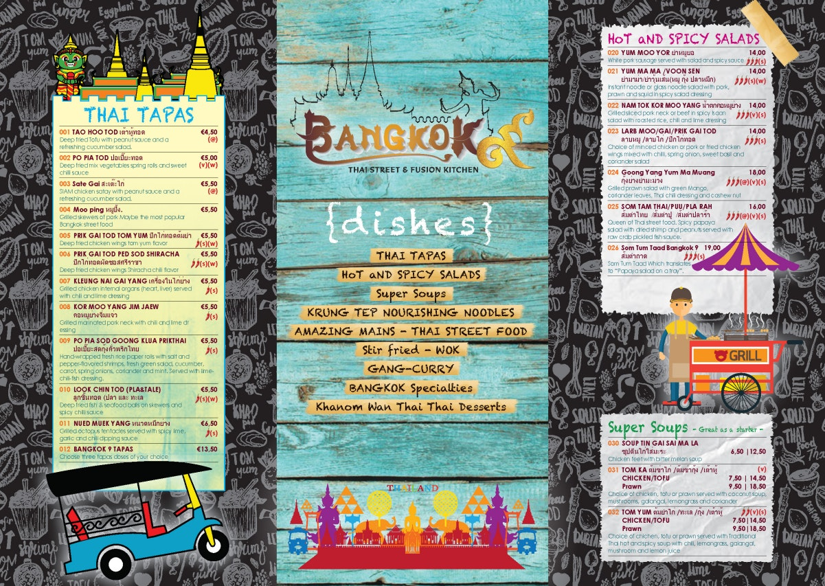 Bangkok 9 menu 1/2