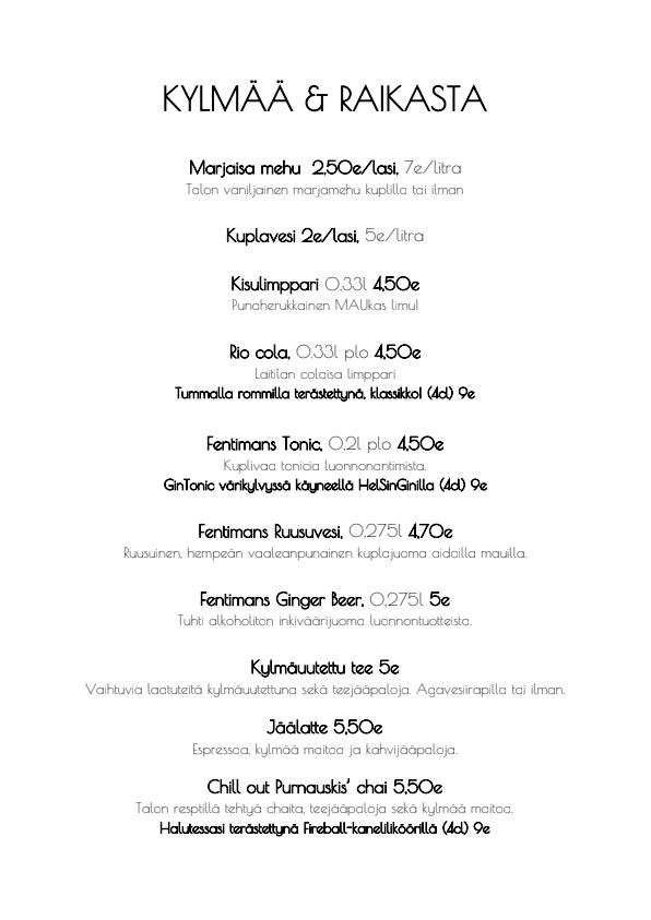 Kissakahvila Purnauskis menu 1/6