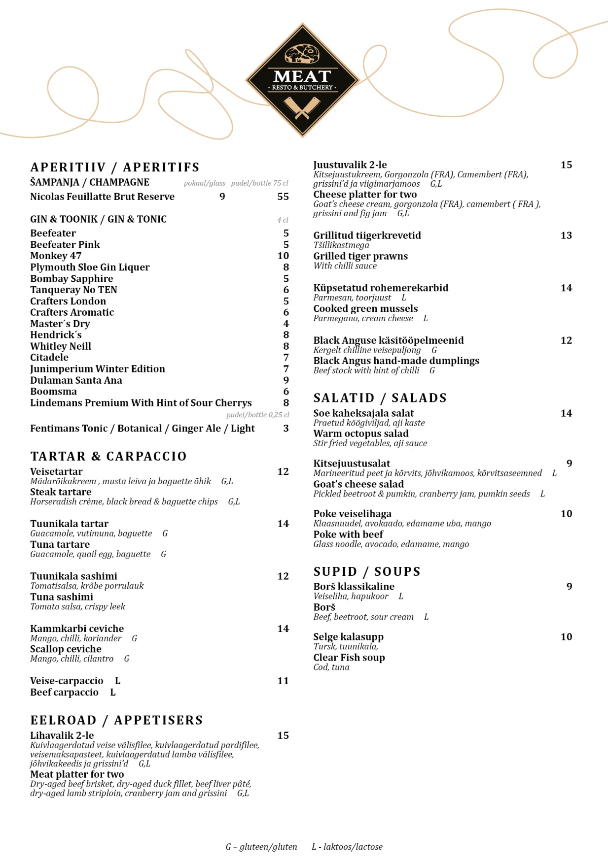 MEAT Resto & Butchery menu 1/5
