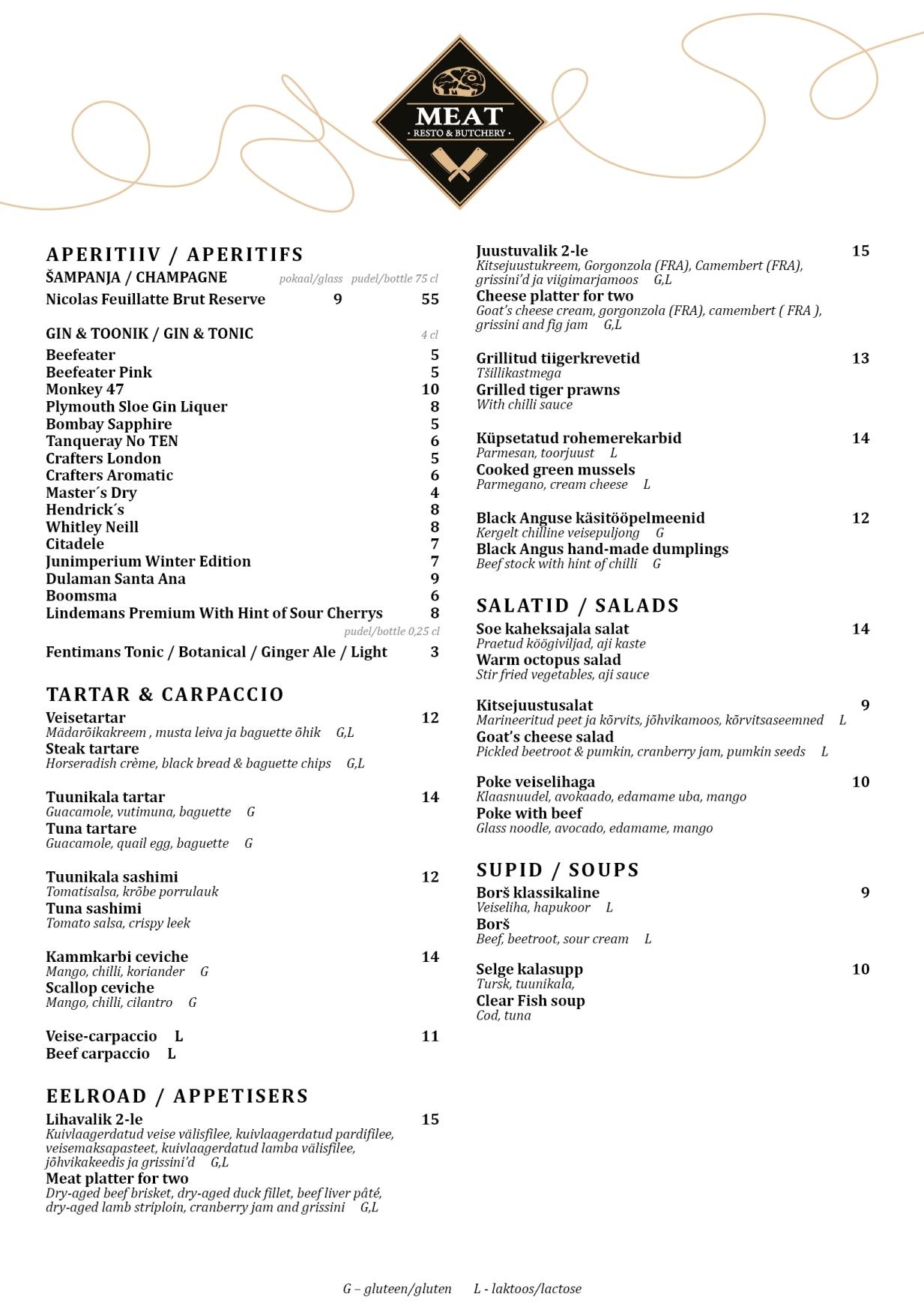 MEAT Resto & Butchery menu 4/5