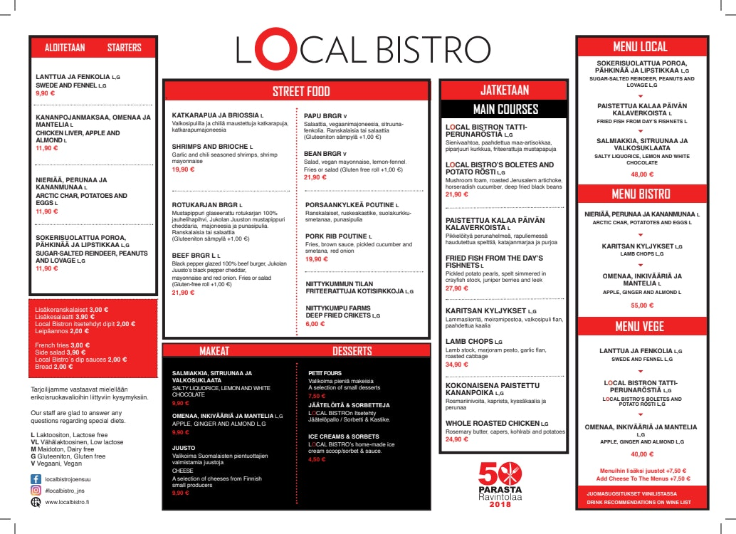 Local Bistro menu 1/1