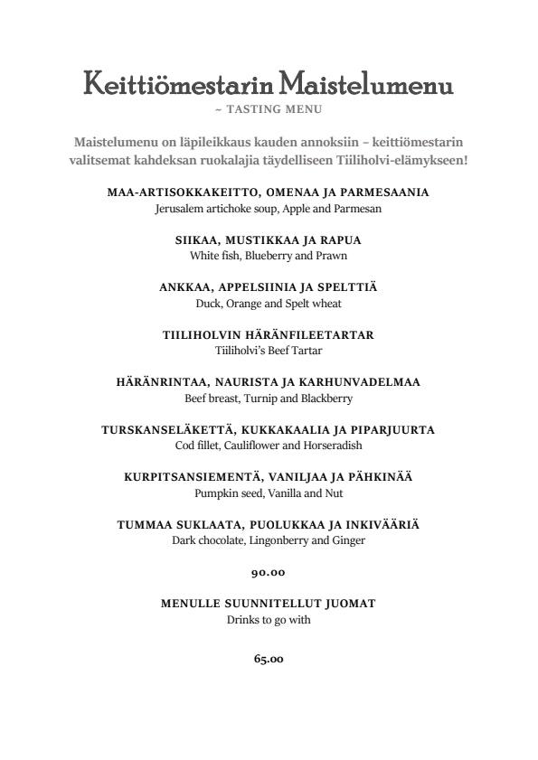 Tiiliholvi menu 2/8