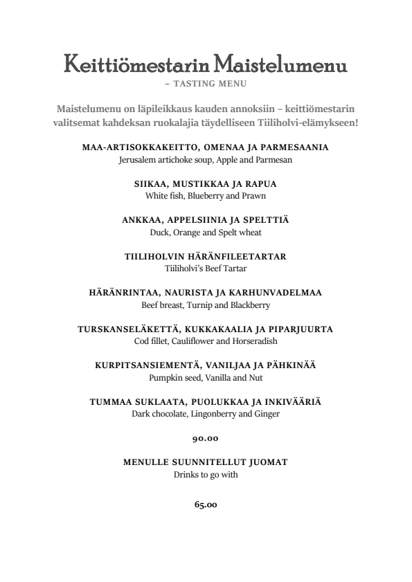 Tiiliholvi menu 6/8