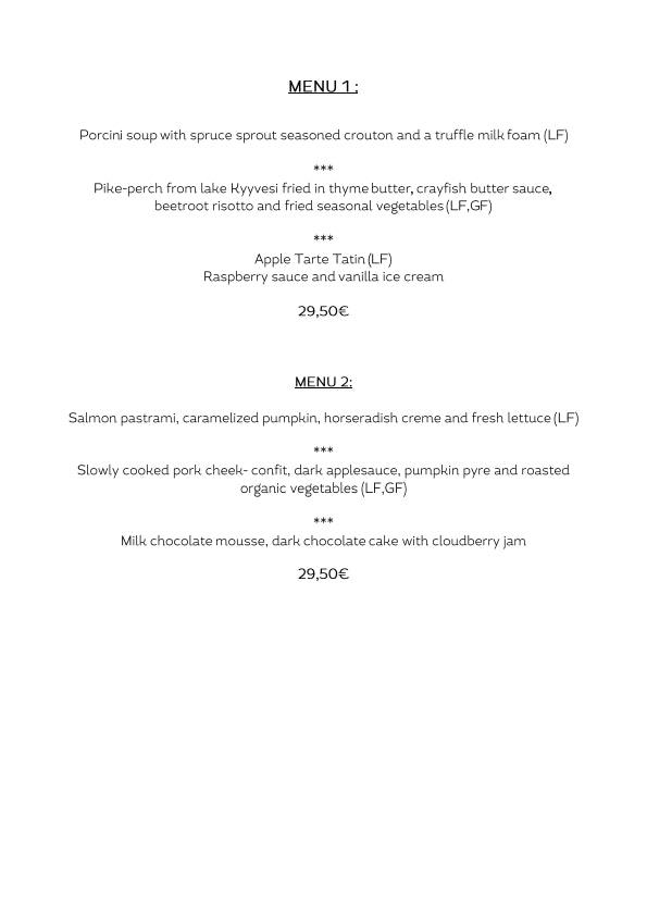 Asemaravintola Vaiha menu 3/4