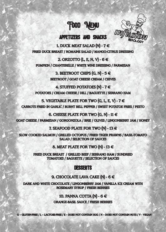 Infusion Mixology Bar menu 1/1