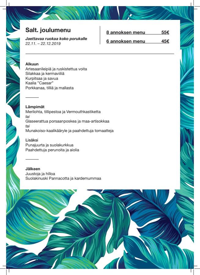 Salt Porvoo menu 1/3