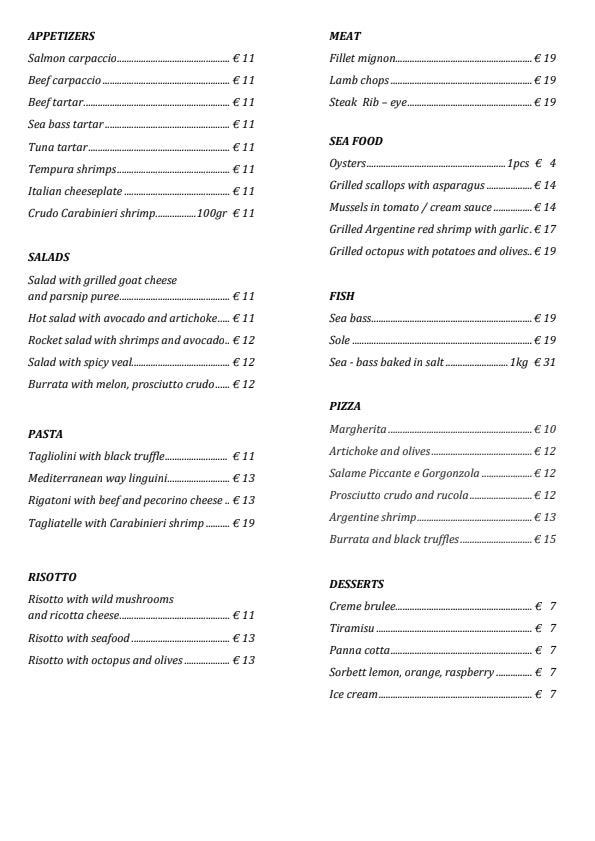 IO Restoran & Lounge menu 2/2