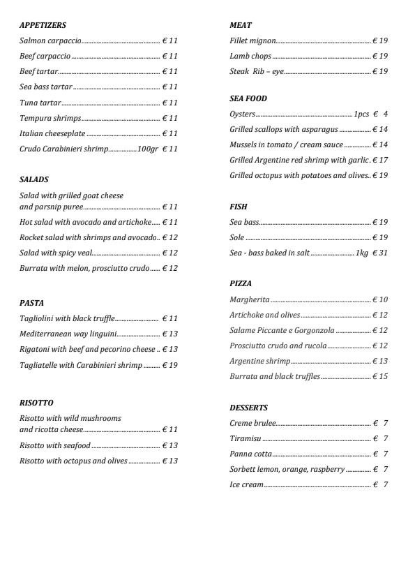 IO Restoran & Lounge menu 1/2