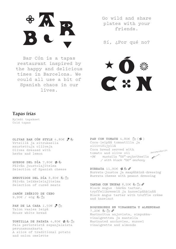 Bar Cón Flemari menu 1/4