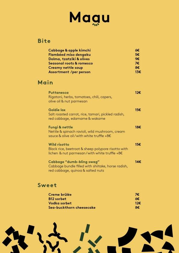 Magu menu 1/1