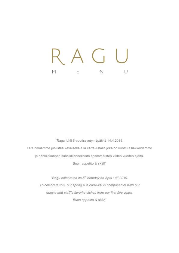 Ragu menu 1/4