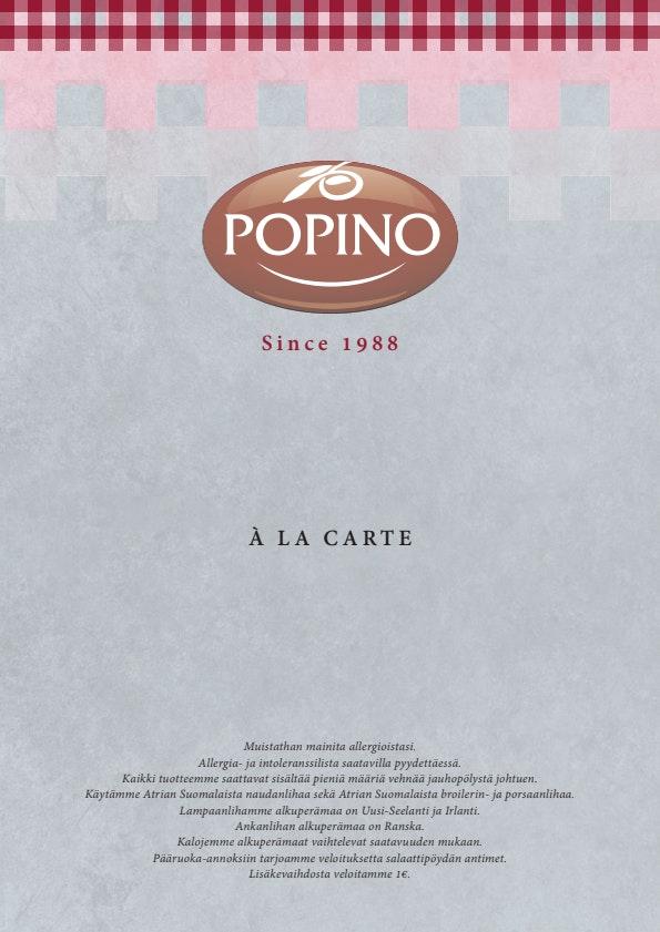 Ravintola Popino menu 8/10