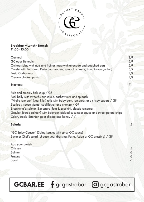 GC Gastrobar menu 1/2