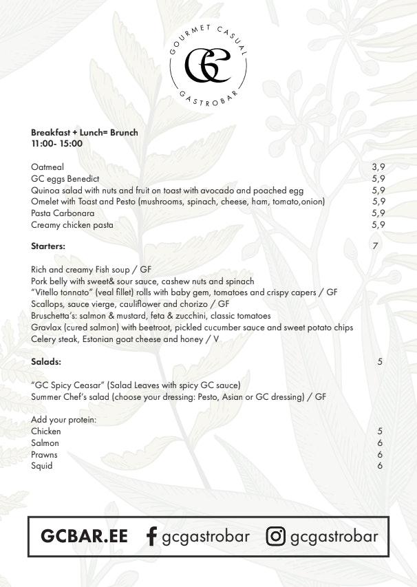 GC Gastrobar menu 2/2