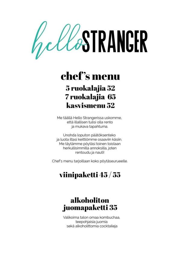 Hello Stranger menu 1/1