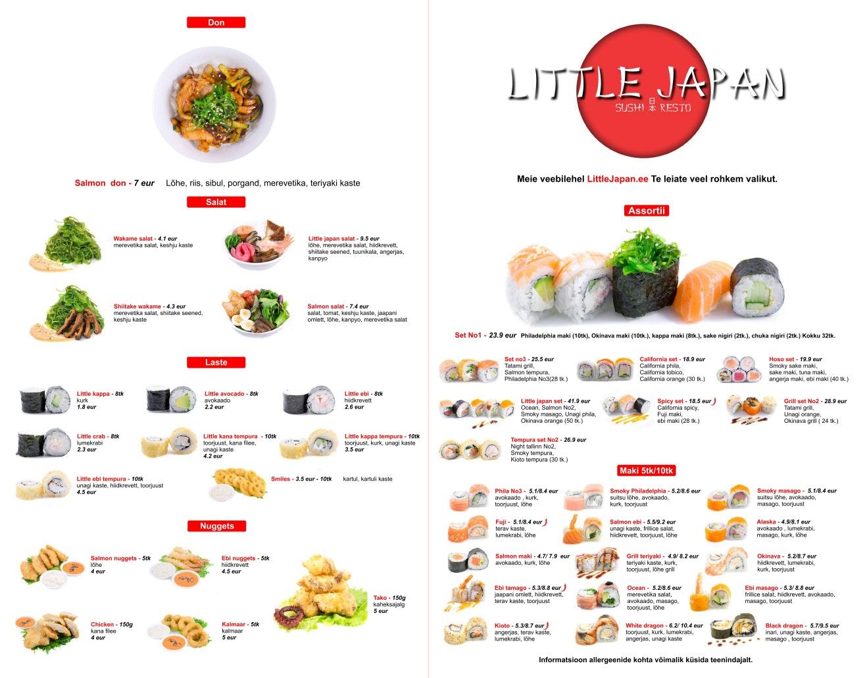 Little Japan Resto menu 1/3
