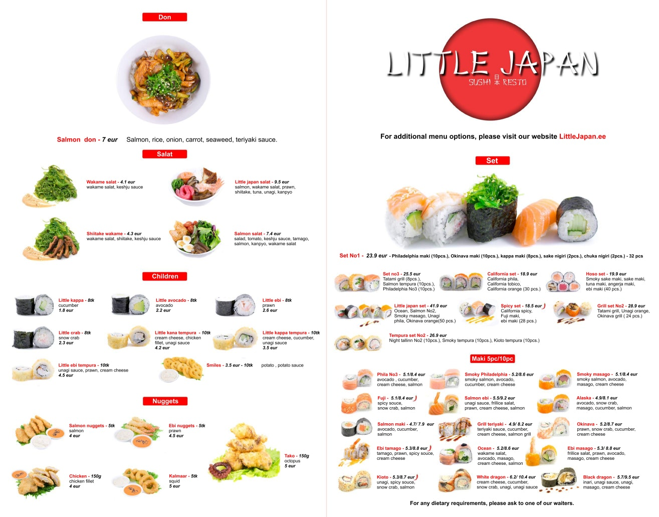 Little Japan Resto menu 1/3