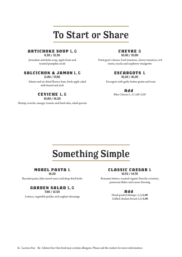 Ravintola Grillsson menu 1/3