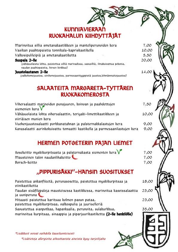 Peppersack menu 2/2