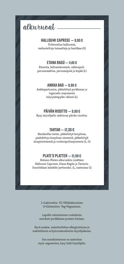 Plate menu 2/3