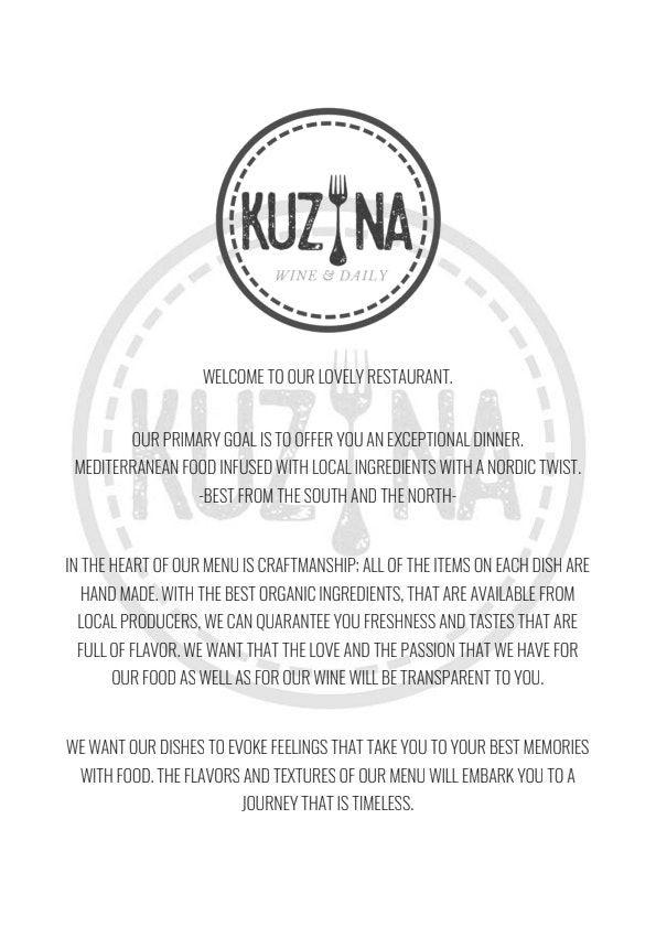 Kuzina Wine & Daily menu 3/6