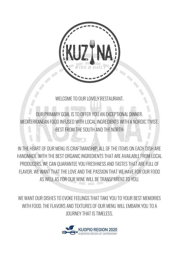 Kuzina Wine & Daily menu 2/6