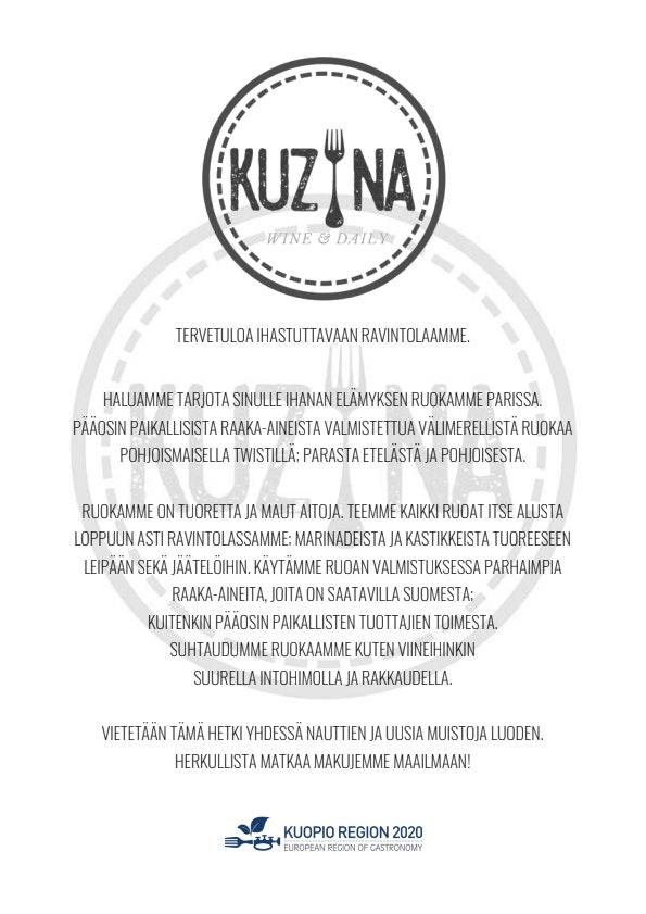 Kuzina Wine & Daily menu 1/6